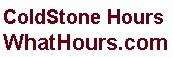 Coldstone hours