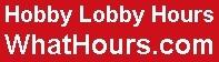Hobby Lobby hours