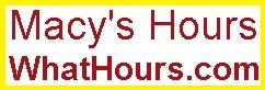 Macy's hours