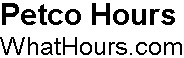 Petco hours