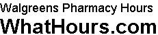 Walgreens pharmacy hours