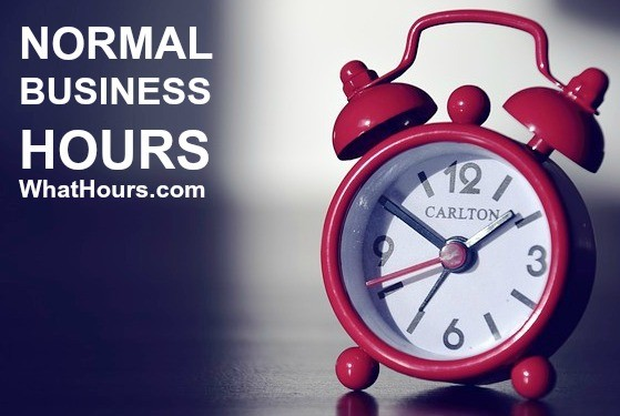 Normal business hours